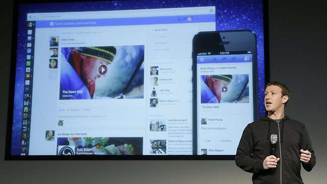 Mark Zuckerberg zeigt Newsfeed 2013
