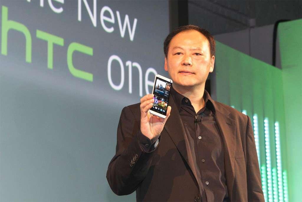 HTC-CEO Peter Chou mit HTC One M8