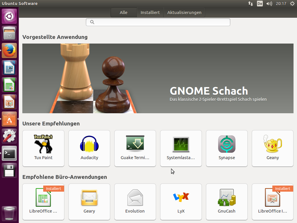 Ubuntu Software, ein umbenanntes GNOME Software. (HJB)